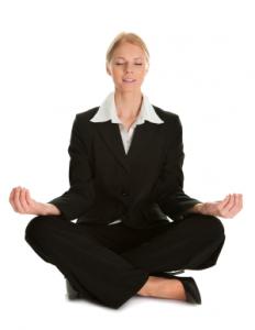 Meditating-woman
